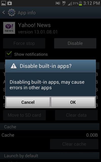 1. Disable Confirm